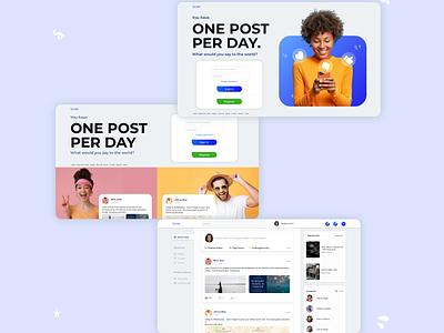 One post a day - Concept design website landing page design webdesign ux ui