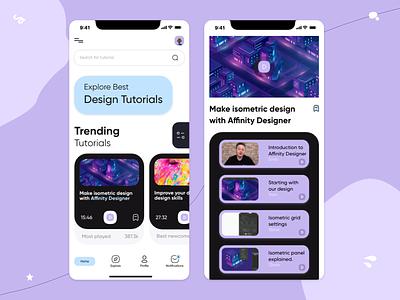 Tutorial Finder - UI mobile ui design mobile app tutorial design ux ui