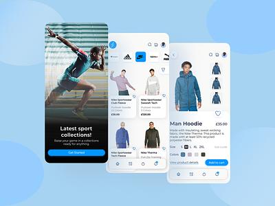 Sport-ware clothing app mobile app clothing sport mobile ux ui