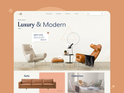 Interactive website for Luxury chairs webdesign landing page website design website mobile app chair ux ui