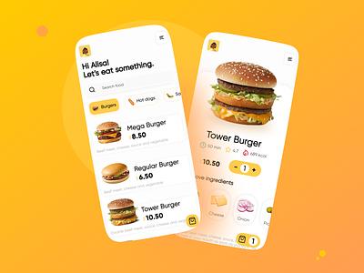 Fast food ordering app food app food app ux ui