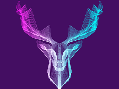 Deer Blending Vector Artwork artwork.deer vector