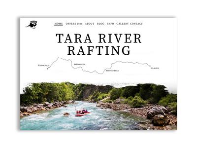 Tara Rafting Landing Page