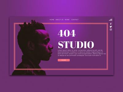 404 Studio Landing Page