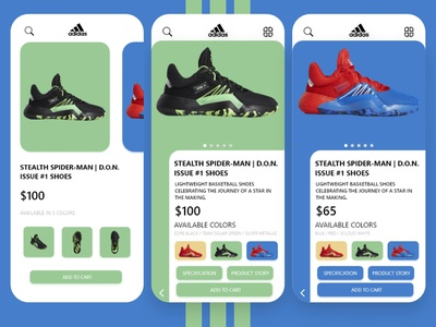 Adidas UI app android iphone webapp ux ui