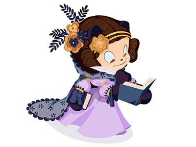 Mona Lovelace illustrator ada lovelace octocat github