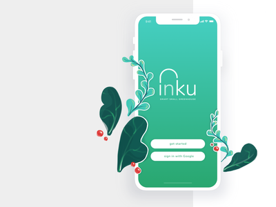 inku welcome page leaf plant nature flat typography logo cover photo art app ux ui icon illustration design branding welcome screen welcome shot welcome page welcome