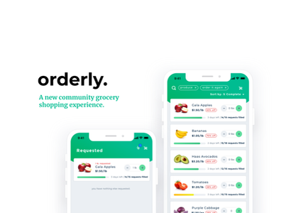 community grocery shopping app mobile app design shopping figma sketch iphone x iphone ios grocery order food ordering green mobile ux branding ui design