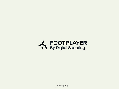 FootPlayer scouting scout soccer app football club foot vector logotype logo icon branding soccer football