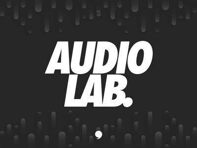 Audio Labs vector illustration flat art direction brand layout clean minimal color logo creative typography identity branding design