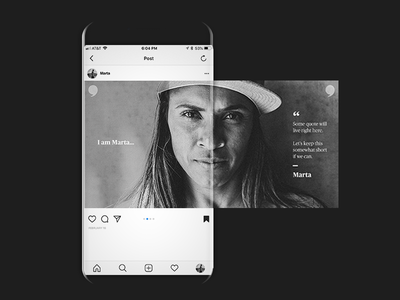 Swipeable IG Post mobile systematic color brand layout ux art direction clean minimal logo ui creative typography identity branding design