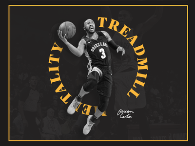 Jevon Carter with Treadmill Mentality illustration flat systematic brand animation sketch dailyui ux layout art direction clean minimal color logo ui creative typography identity branding design