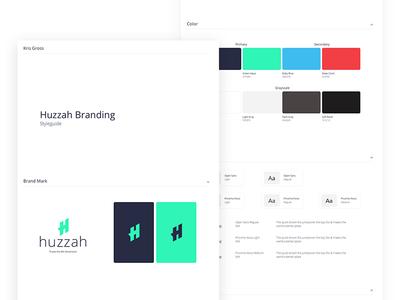 Huzzah Brand art direction vector illustration flat systematic brand dailyui layout clean minimal color logo ui creative typography identity branding design