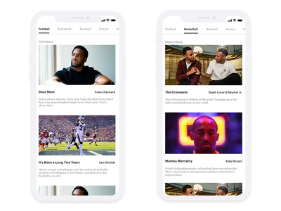 Interactive NewsFeed Prototype art direction layout ui typography identity design mobile theory color grids style psd sketch interaction design app interaction