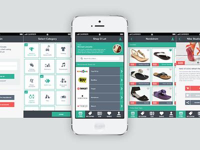 iOS App - Shop O Lot (Concept) shopping app iphone shopping app