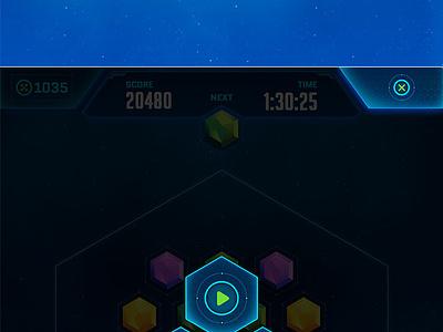 HexQuare ios android game ui ux mobile game ipad