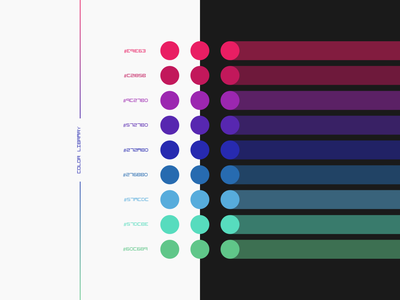 Color Library for Dark and Light Mode colorfull branding scheme colors interface ui concept color palette resources night mode light mode dark mode light dark framework library colorful colour color