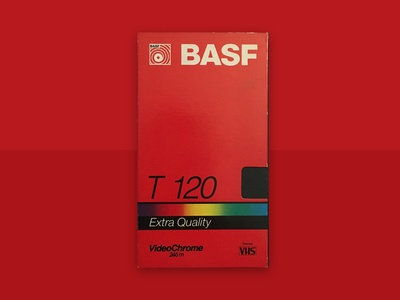 VHS BASF T120 Stereo branding portfolio art rainbow videotape old school old retro vintage concept artwork stereo red quality chrome video tape basf vhs