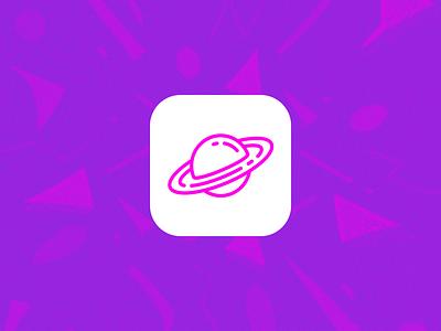 Pink Planet Simple Icon texture pixel pixel perfect ios icon app icon app design concept planet ios icon pink white