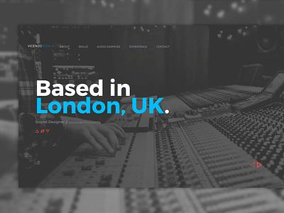 Sound Designer Web Portfolio portfolio audio sound design branding responsive london uk sound designer vicenzo bosa brand design html web  design web concept