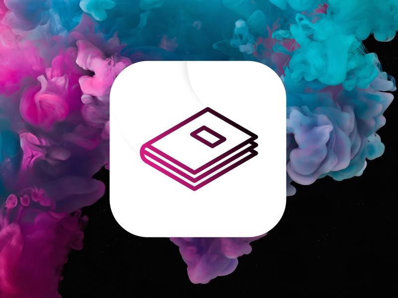 Concept Notes Icon surface pro minimalist logo minimalist blue pink vapor cloud cool background microsoft ui branding app concept logo icon app concept