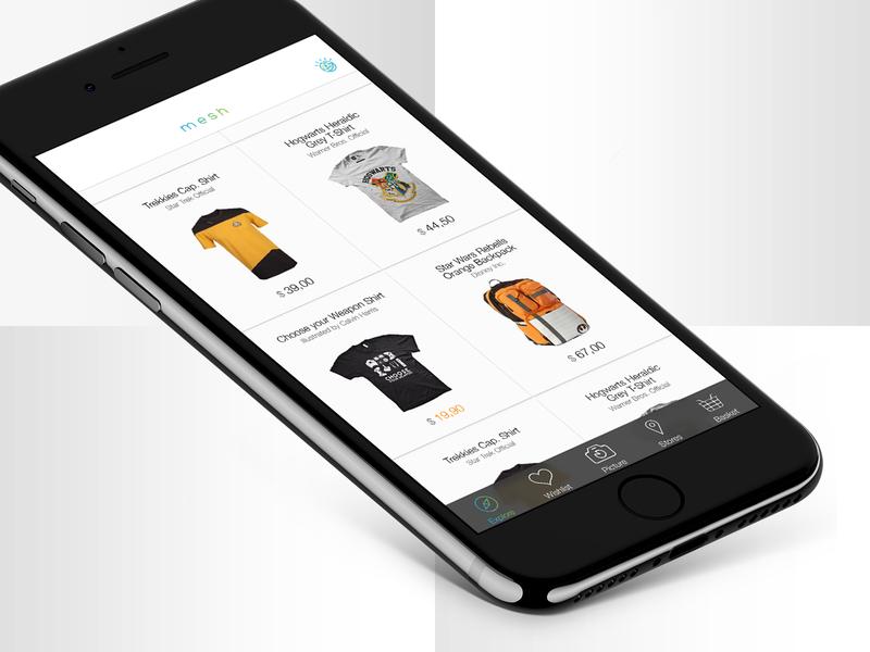 Mesh Concept App android ios watson ibm cognitive assistant shopping design mobile ux ui app concept