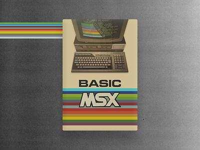 Basic Msx 80's Computer concept old school pc old computer 18 colors vintage development programming design ui colorful language 80s retro computer microsoft msx basic