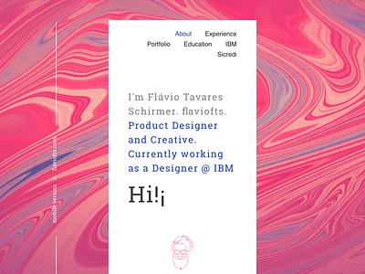 web portfolio → mobile version ibm white typography lines abstract creative product designer concept site new ui ux presentation texture color portfolio designer personal branding mobile