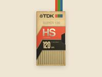 TDK High Standard SUPER T-120 VHS Tape