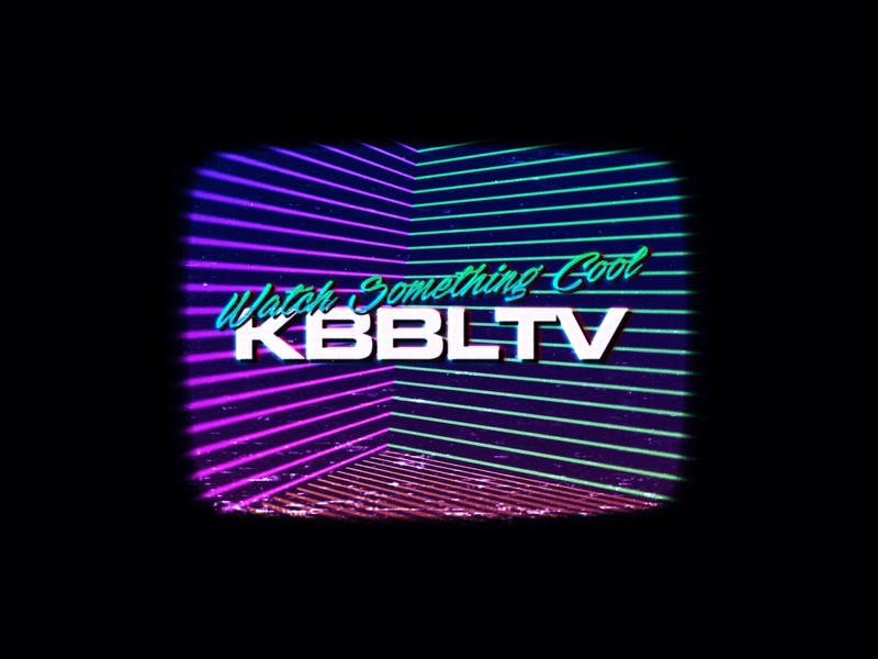 KBBLTV Retro Streaming Channel vhs web cool aesthetics 90s 80s channel streaming gradient colorful graphics vaporwave retrowave vapor tv kbbltv kbbl retro concept