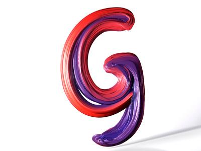 36DaysOfType - G 3dart motiongraphics 36daysoftype 36days-7 graphicdesign digitalart