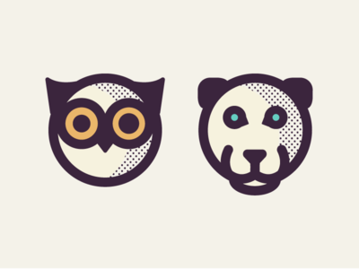 Owl & Panther Illustrations