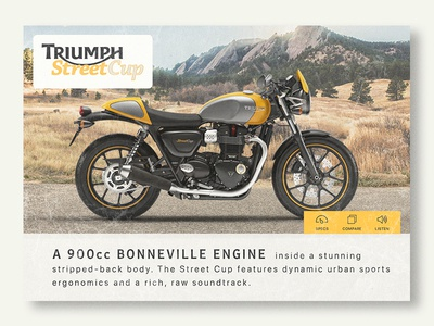 Thirty UI #2 - Motorcycle Product Card