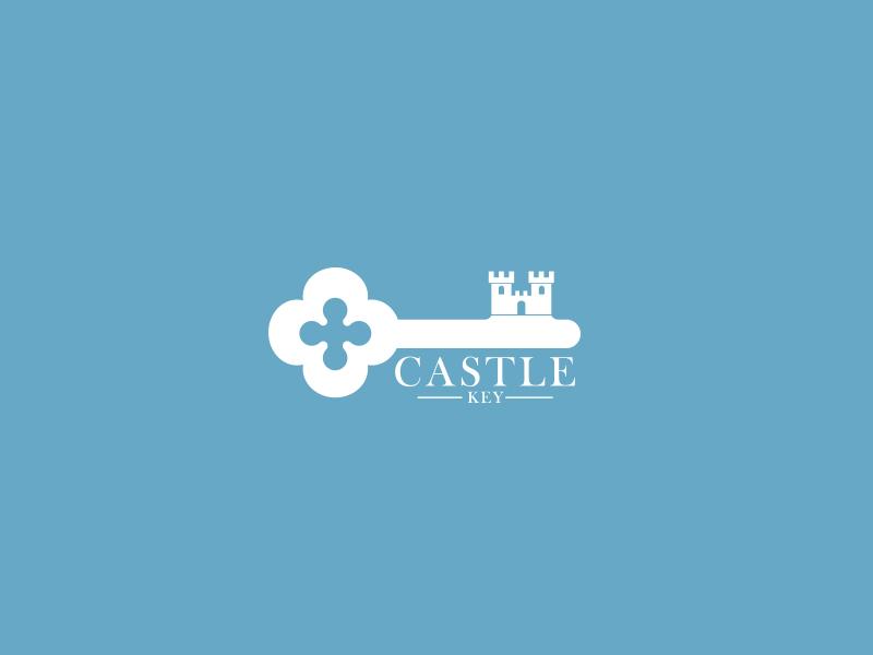 Castle Key Logo branding brand creative unique restaurant hotel key castle logos logo