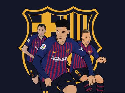 F.C. Barcelona Illustration