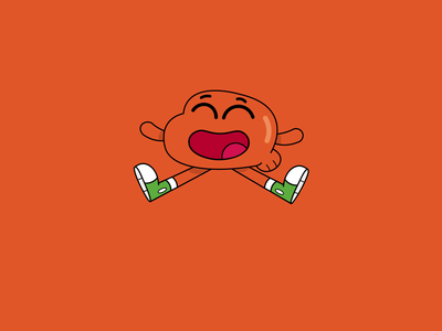 Happy Darwin fun happy funny hello colors design characters animation character 2d gumball the amazing world of gumball darwin illustration dribbble