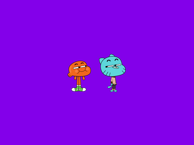 Gumball X Darwin Illustration happy funny colors dribbble 2d design characters animation character illustration art illustraor illustration