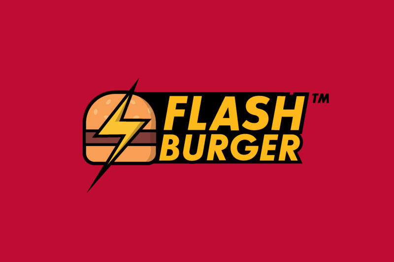 Flash Burger Logo burger logo burger flash branding 2d logofolio logo design logo design dribbble colors