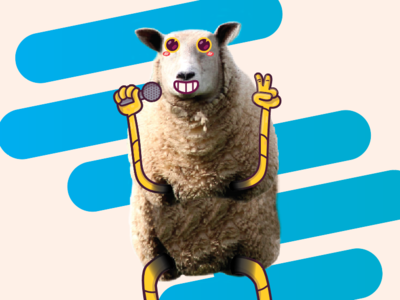Sheep Having FUN hello happy funny characters colors animation character 2d design illustration dribbble
