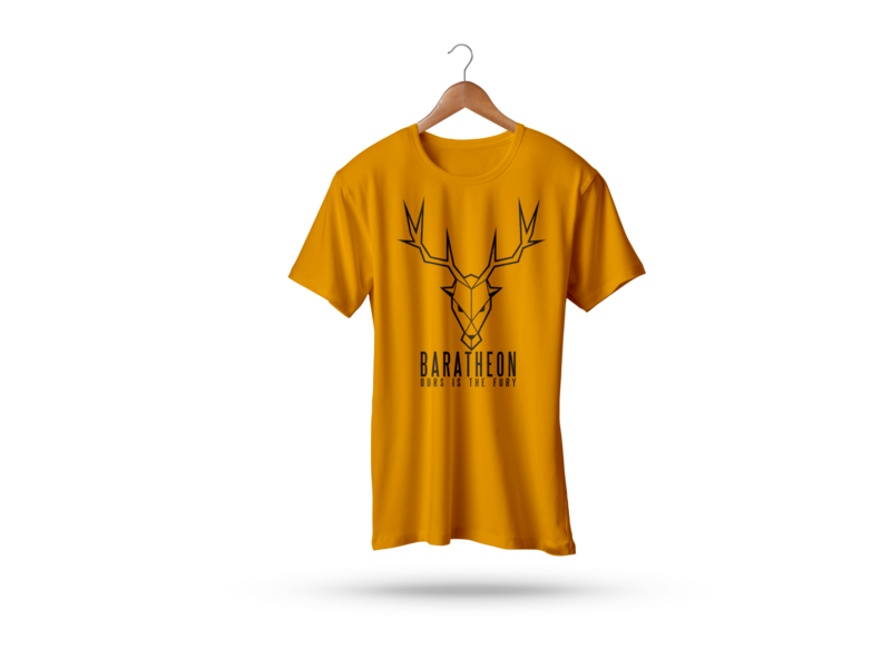 BARATHEON T-Shirt coffee hello 2d dribbble typography branding vector design illustration colors