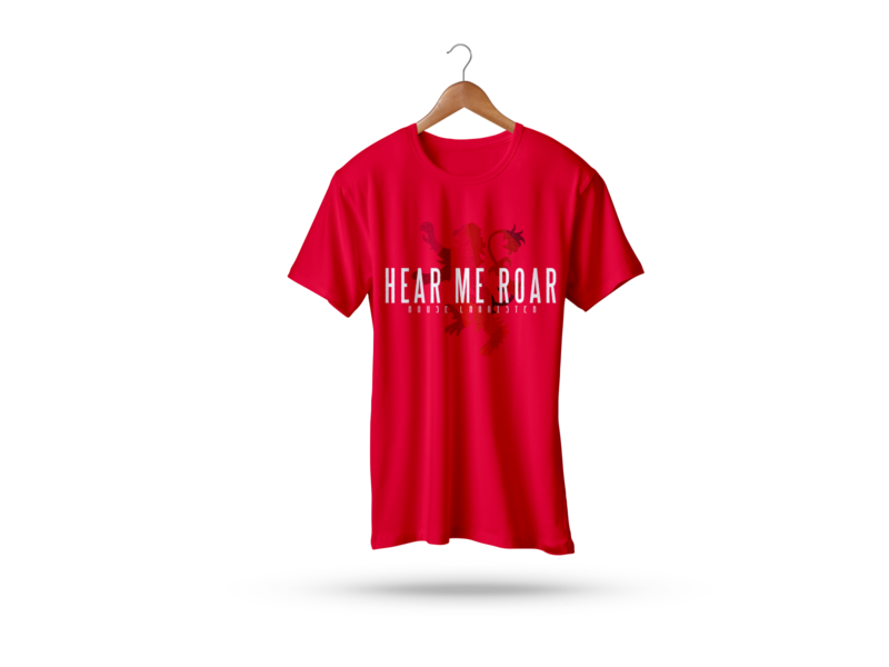 Hear Me Roar T-Shirt hello dribbble graphic design 2d illustration design t shirts t shirt designer t shirt design t shirt art t shirt game of thrones