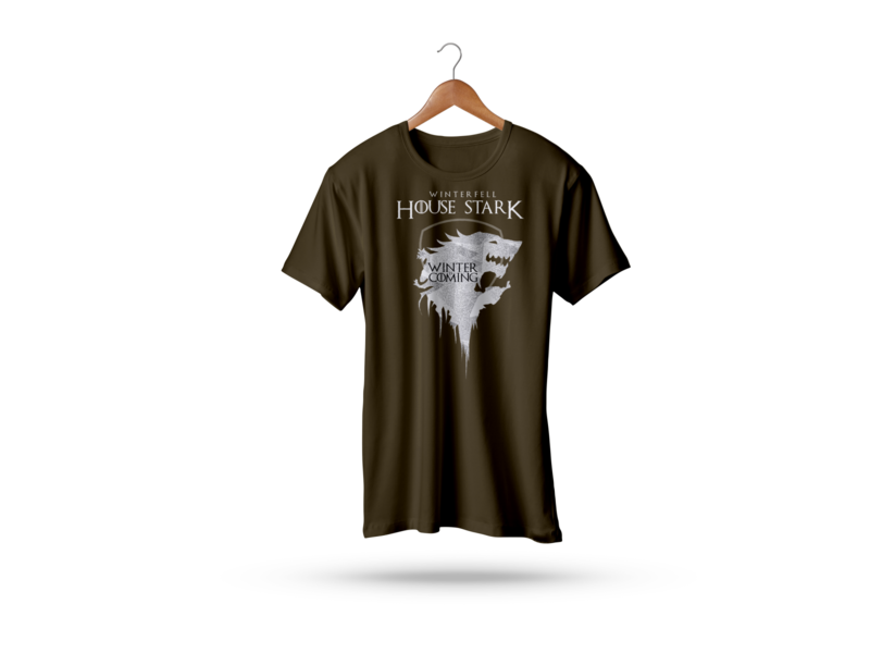 House Stark T-Shirt graphicdesign graphic design type game of thrones colors typography t shirt designer t shirt design t shirt art t shirts t shirt illustration tshirt design tshirtdesign tshirt art tshirts tshirt hello dribbble design