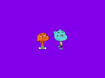 Gumball and Darwin Watterson design characters funny happy illustration character animation 2d colors dribbble