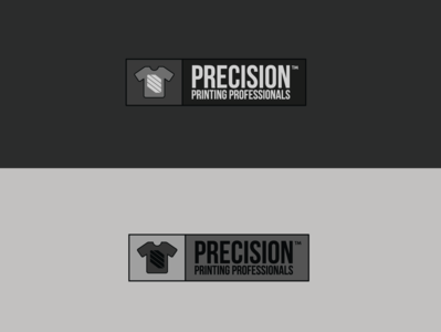 Precision Printing Professionals Logo icon printing typography hello branding vector logo colors 2d illustration dribbble