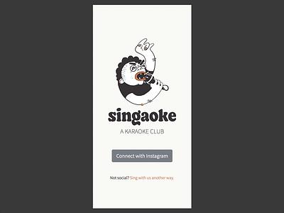 Singaoke Prototype in Vue / Nuxt illustration design mobile app app design vuejs