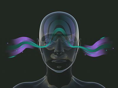Binaural Sound & Brain Waves sketchapp adobe illustrator daz3d sound science scientific soundwave 3d digital art digital illustration illustration