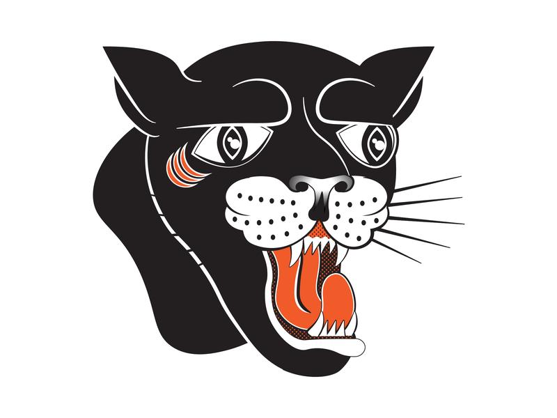 Karaoke Club - The Panthers american traditional tattoo branding illustration