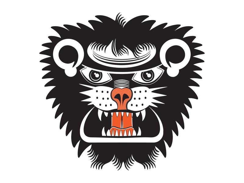 Karaoke Club - The Gorillas tattoo american traditional branding illustration