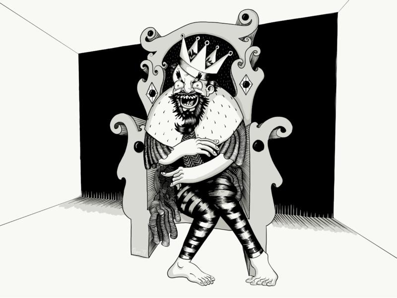 King Horian, Graveltoes throne king apple pencil ipad pro adobe draw digital illustration digital art illustration