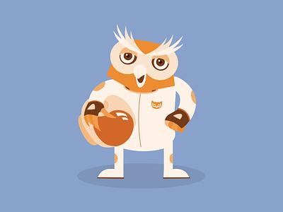 Owl Illustration mascot design mascot character mascot digital illustration illustration illustrator